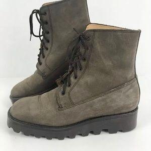 J. Crew Vtg Leather Ankle platform boots Sz 7